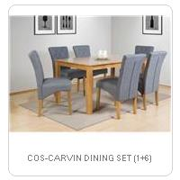 COS-CARVIN DINING SET (1+6)